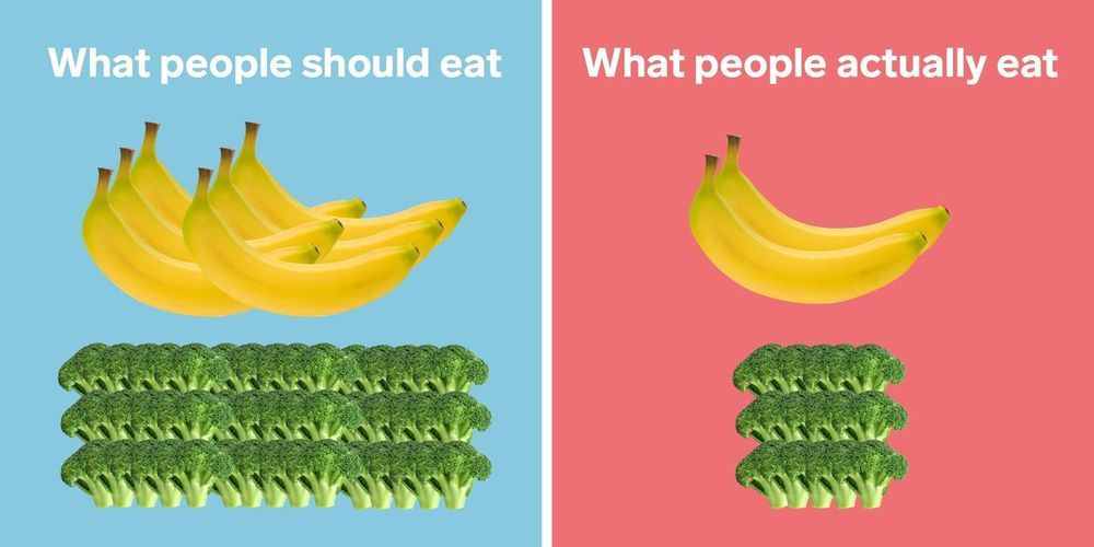 A disturbing side-by-side look at how much fat, sugar, produce, and