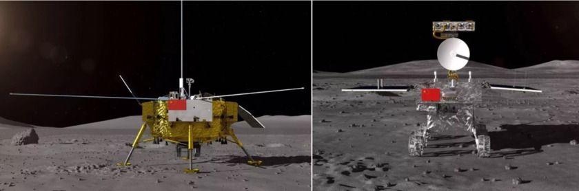 Chang'e-4 lander and rover