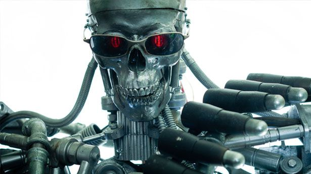 Robot cyborg war machine via Shutterstock