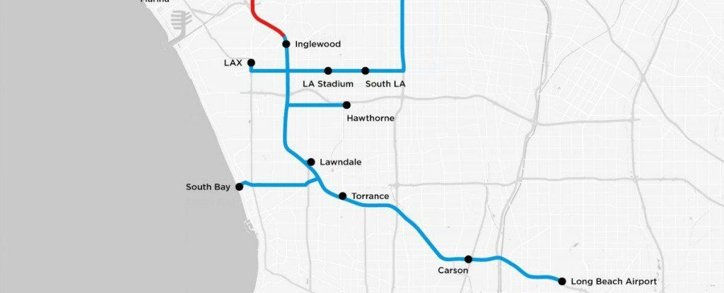 Elon Musk\'s Boring Company Just Released a Map of Its Proposed LA ...