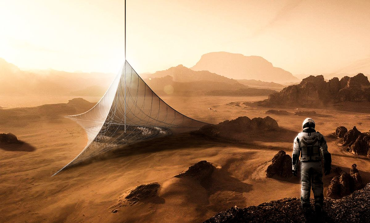 entrance to mars how this fascinating dome space elevator grows in all directions. Black Bedroom Furniture Sets. Home Design Ideas