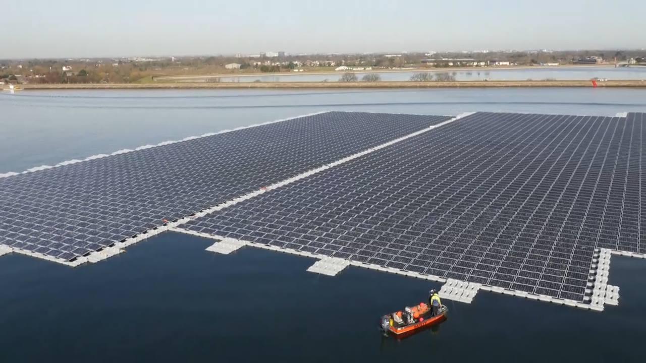 Giant Floating Solar Panel