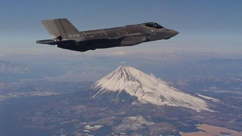 Japan F-35 Mt Fuji hi-res