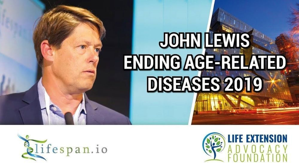 John Lewis at Ending Age-Related Diseases 2019