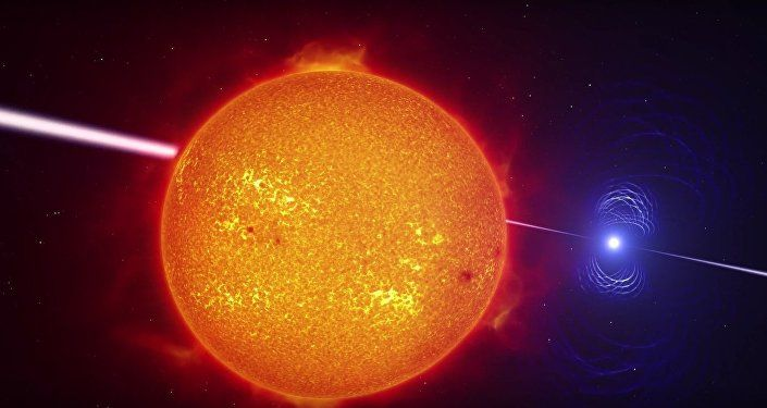 Artist's impression video of the exotic binary star system AR Scorpii