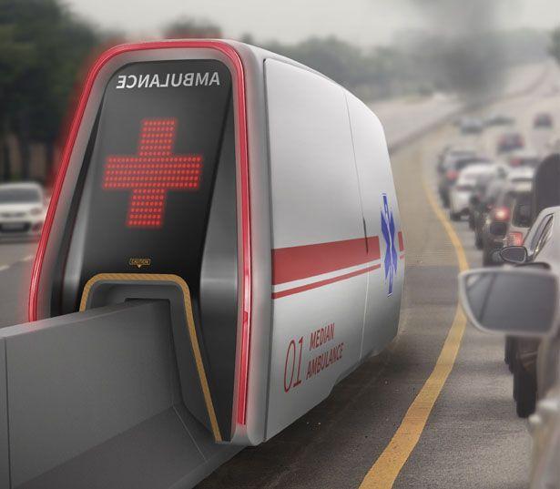 Median AMB - Median Ambulance Rides Highway's Median Strip As The Track