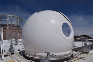 egg-looking optical telescope dome