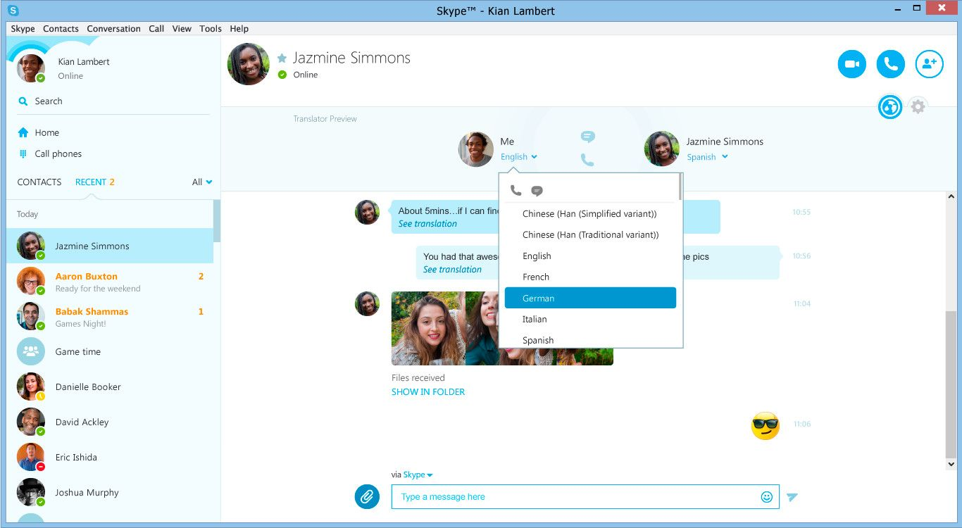 Skype Translator desktop