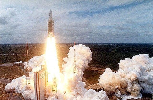 An Ariane 5 rocket launch