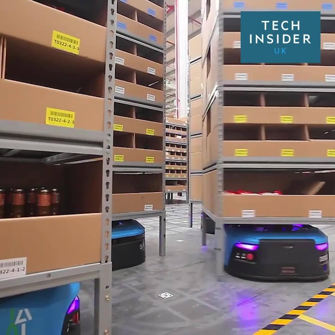 Take a look inside Alibaba's smart warehouse where robots do