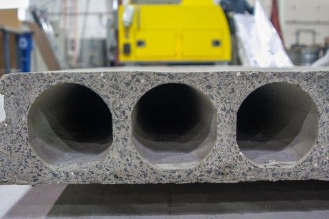CO2-cured Solidia Concrete™ hollow core (Photo: Business Wire)