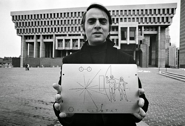 Carl Sagan's wife designed the plaque bolted to the outside of the first man made object to leave our solar system
