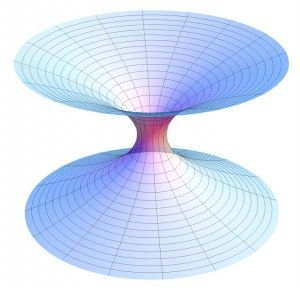 An illustration of a wormhole