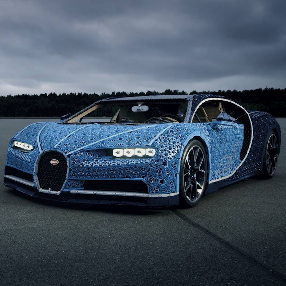 You Can Drive This Bugatti Chiron Made Of Legos