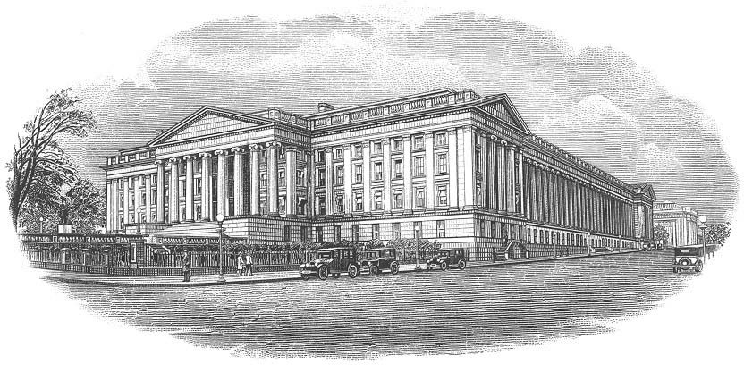 Uncle Sam can lease the US Treasury building to pay off debt brought about by inflation