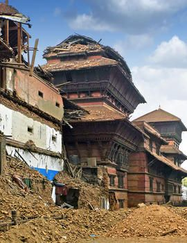 Country: Nepal Site: Durbar Square Caption: View of site Image Date: May 5, 2015 Photographer: René Fan/World Monuments Fund Provenance: Site Visit during earthquake Original: email from Lisa Ackerman