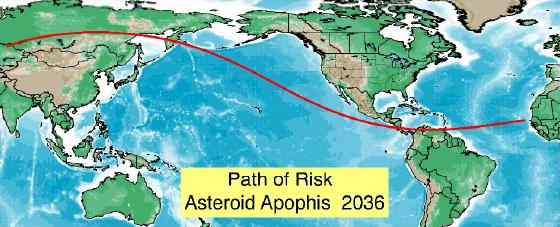 apophis 2029 asteroid impact map - photo #19