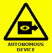 Autonomous device warning