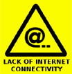 Lack of internet connectivity warning
